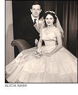 Wedding Photograph of John Nash and Alicia Nash