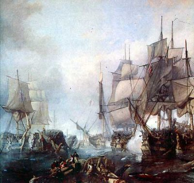 His Majesty's Ship Belleisle after the Battle of Trafalgar.