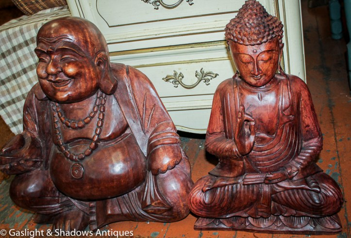 Large wood Buddhas