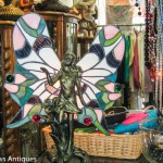 Fairy with Tiffany wings lamp