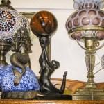 Unique lamps, mermaid lamp, Fenton lamp