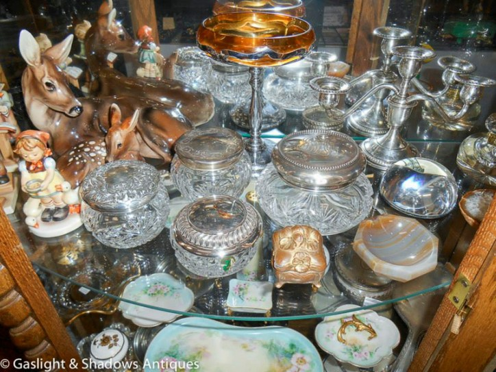 silver crystal jars