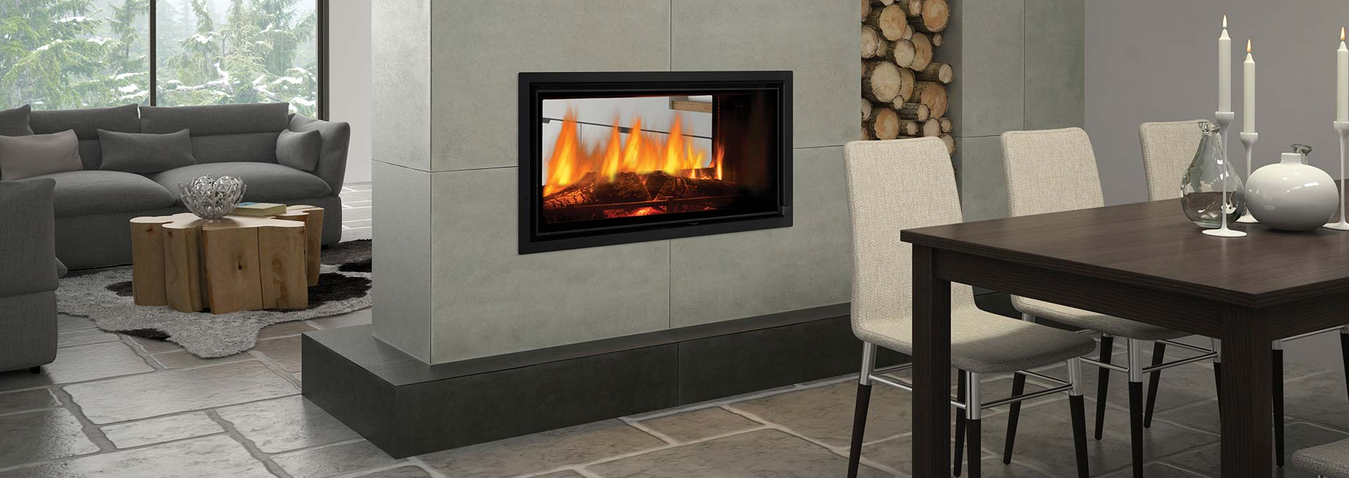Buy the Regency Mansfield Wood Fireplace at Gas Log Fires Melbourne
