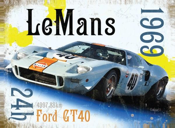 """f10 - """"FORD GT40"""" o matador de Ferraris"""