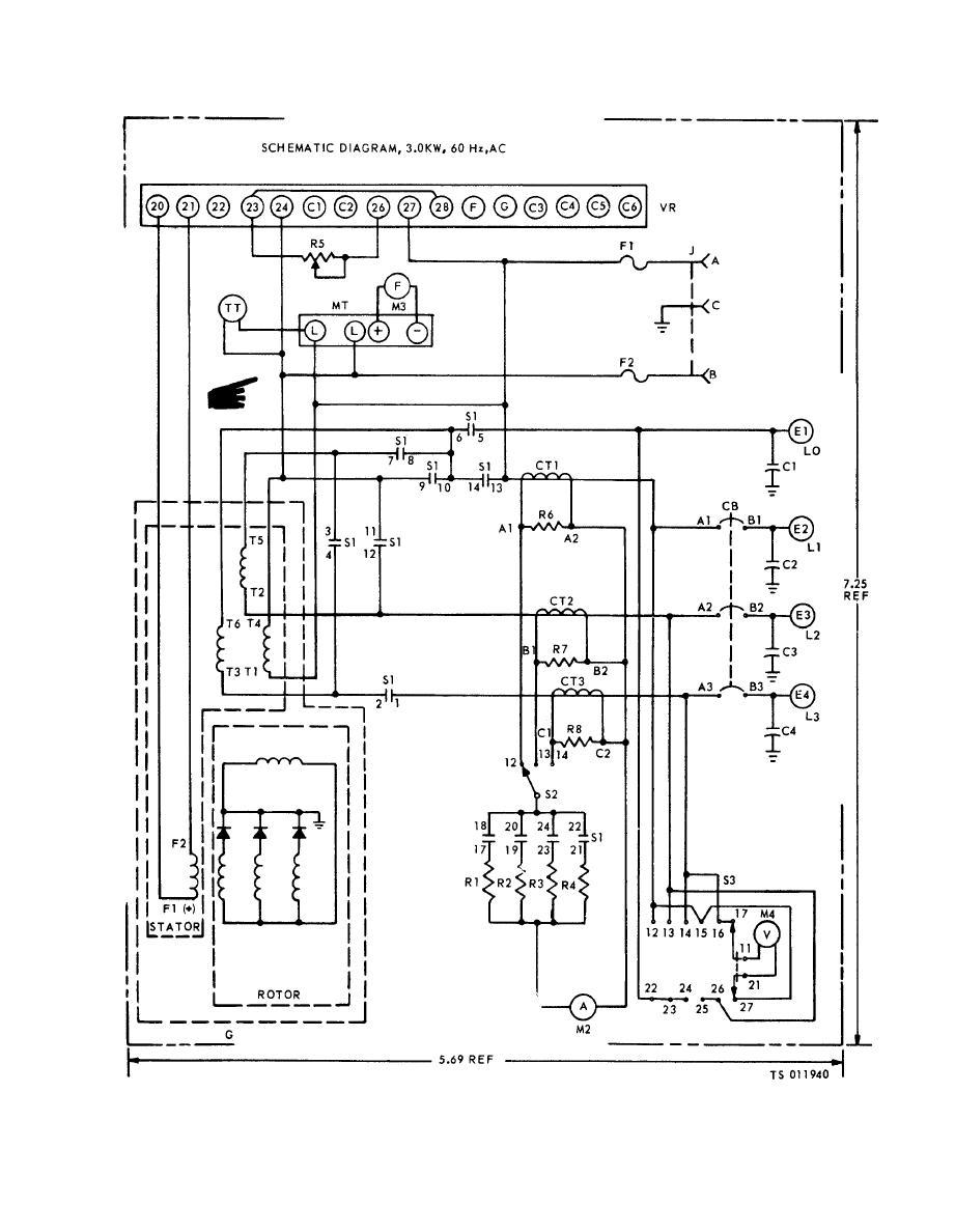 Figure 10-1. Generator schematic diagram (Model MEP-016A).