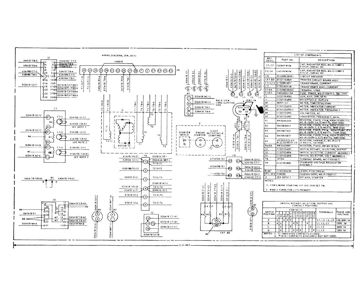 Figure FO-1 Wiring diagram (Model MEP-016A)