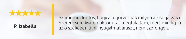 vélemény_értékelés_gáspár denta_gáspár medical center_ fogászat budapest