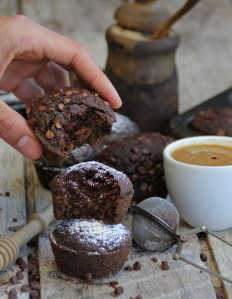 Coffee carob and cinnamon muffins