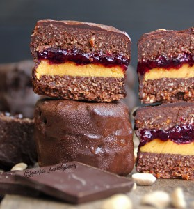 Chocolate Pb&J cookie sandwichs