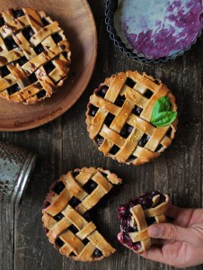 Blueberry & basil pies