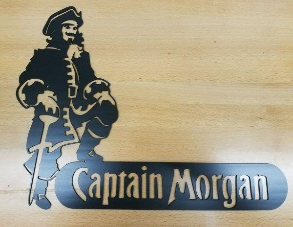 Captain Morgan Metal Wall Art Plasma Cut Decor Rum