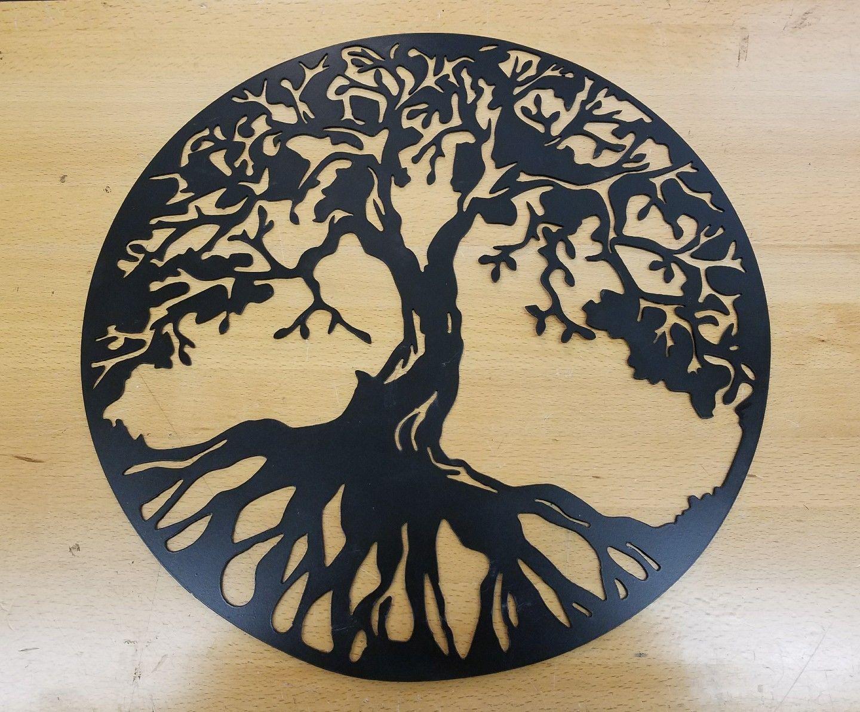 Tree Of Life Metal Wall Art Plasma Cut Decor Gift Idea