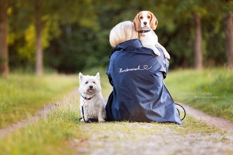 Windcheater Hundemensch (navyblau)