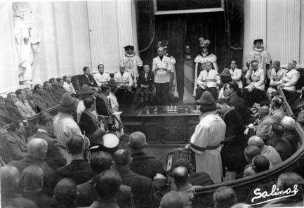 Proclamación de Francisco Franco a diputado general | Foto: Arabadoc
