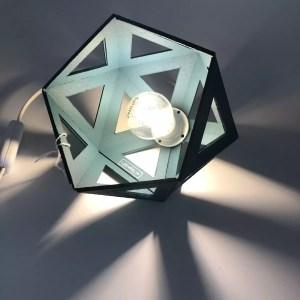 "6625FEA9 199D 411B 8371 39CC6C881A9C rotated - Leewalia - Petite lampe origami ""bleu canard"""