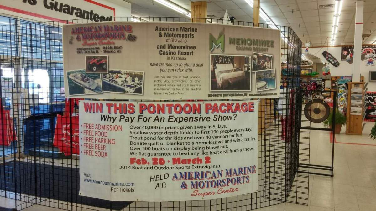 Boat Show Sign