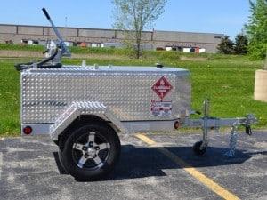 Diamond Plate Fuel Trailer