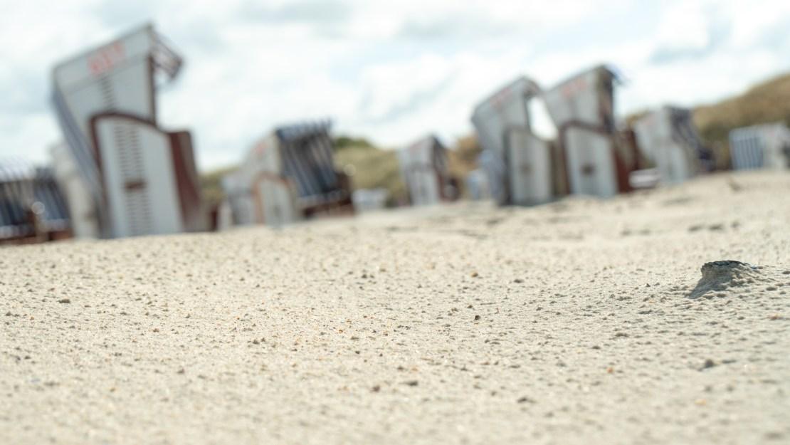 Strandkörbe am Strand von Norderney