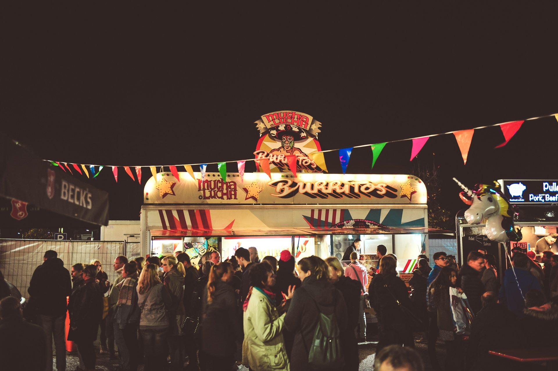 Food-Trailer für Street-Food Burritos