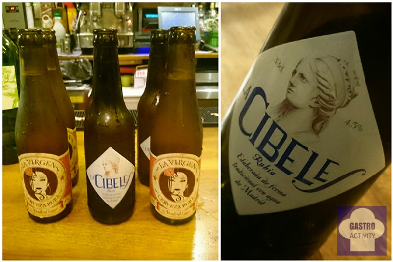 Cerveza La Virgen y Cerveza La Cibeles Sifon bodega colmado Madrid