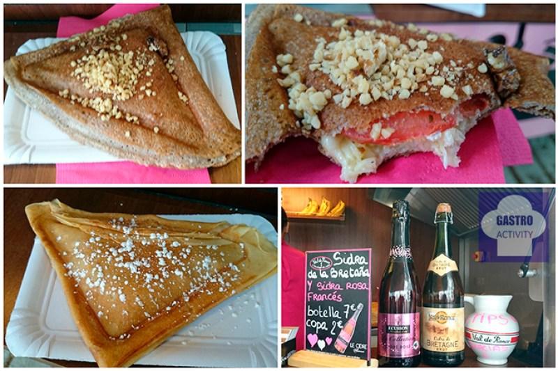Galette vegetariana. Crepe de Nutella y sidra rosada de Trisk'An. Foodtruck en MadrEAT