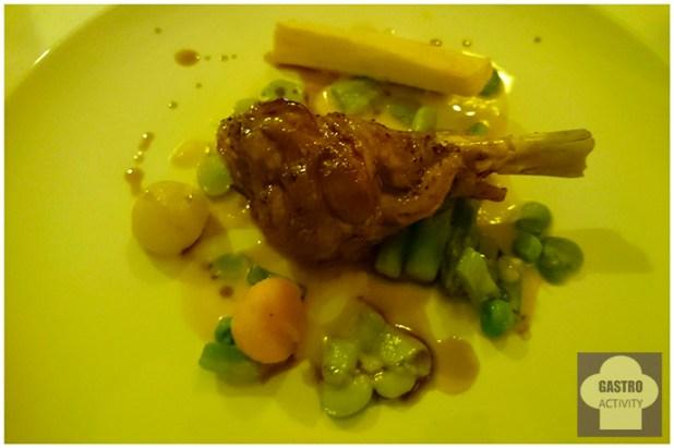 Jarrete de cordero con curry de tubérculos restaurante Desencaja Madrid