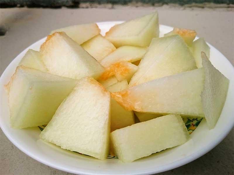 Melon para la piscina