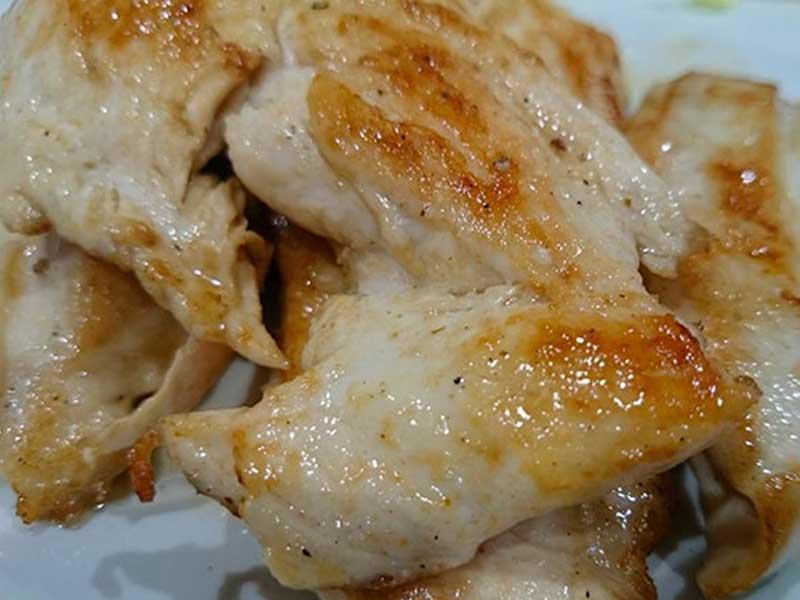 Pechugas de pollo comidas caseras para la piscina