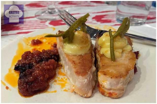Atún con base de sobrasada Muta Balear restaurante Muta Madrid