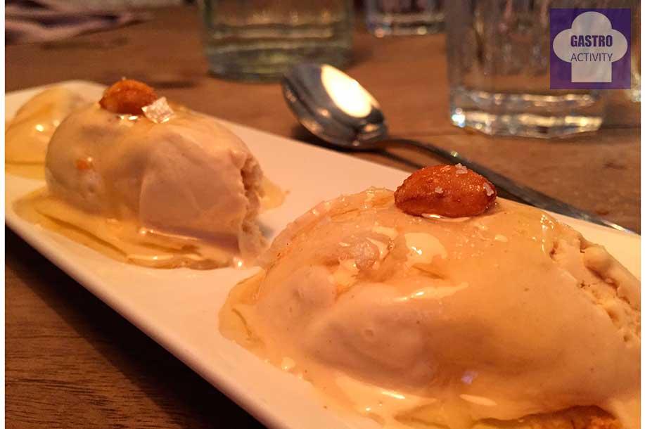 Helado de cacahuete con miel y sal Restaurante Tandem Madrid