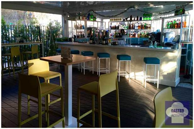 Barra del Restaurante 90 Grados Madrid