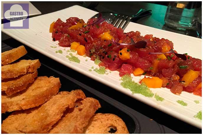 Tartar de atun y mango Restaurante Kotte Madrid
