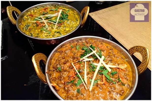Lentejas Dhal Makani y Palack Paneer Restaurante Purnima comida hindu Madrid