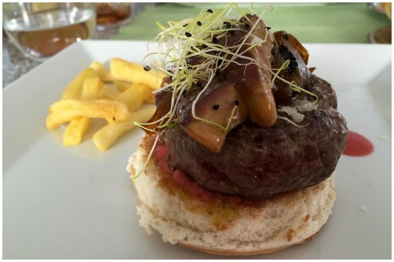 Hamburguesa slamorejo remolacha Restaurante Jose Luis Madrid