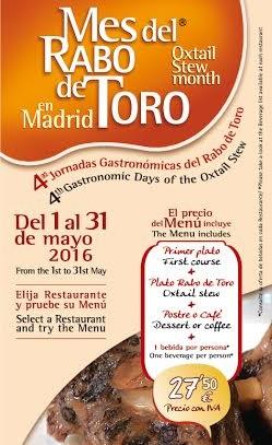 mes del rabo de toro en madrid 2016 jornadas gastronomicas