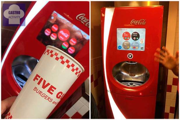 Maquina Free Style de Coca Cola Five Guys Madrid