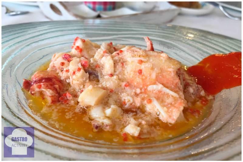 Salpicón de bogavante azul Restaurante Gueyu Mar