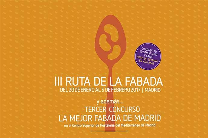 III Ruta de la Fabada 2017 enero el mes de la gastronomia en Madrid