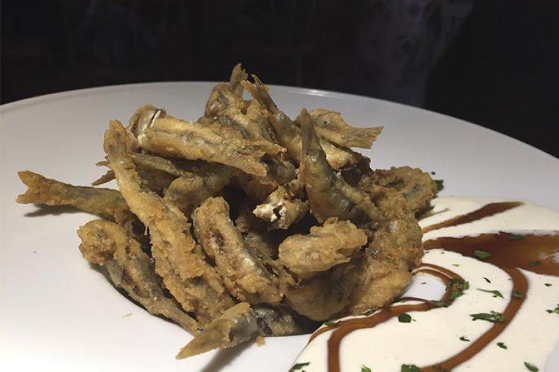 Boquerones fritos La Guarida de Narvaez