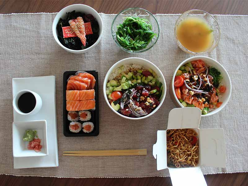 gosushing comida japonesa para llevar