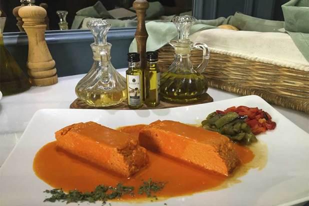 Pastel Pimientos del Piquillo Restaurante Donde Marian Chamartin