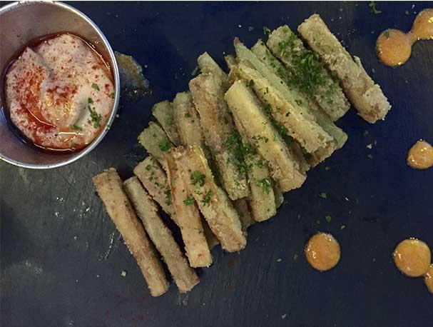 Chips de berenjena Restaurante MAD13