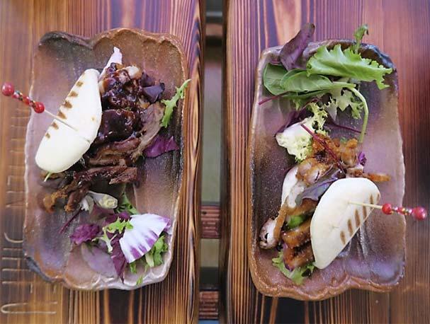 Bao de pato y bao de pollo Ramen Shifu restaurante japones de ramen