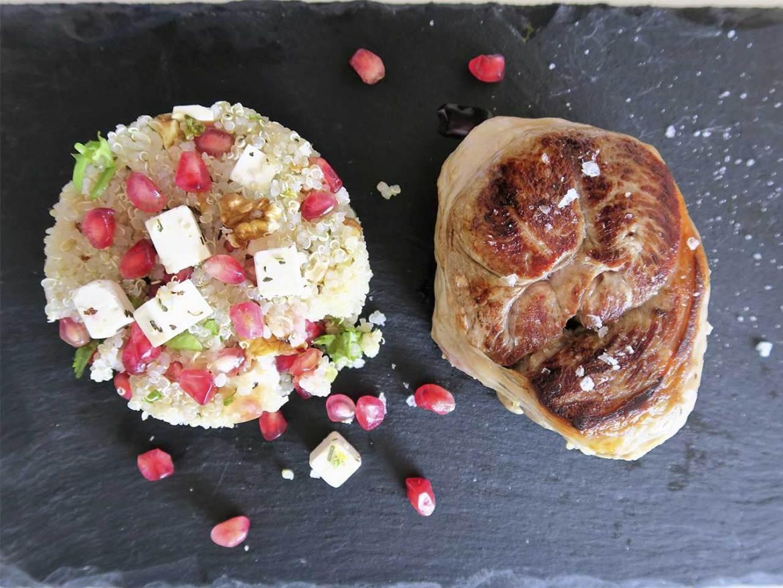 Receta Tournedo de cordero con ensalada templada de quinoa