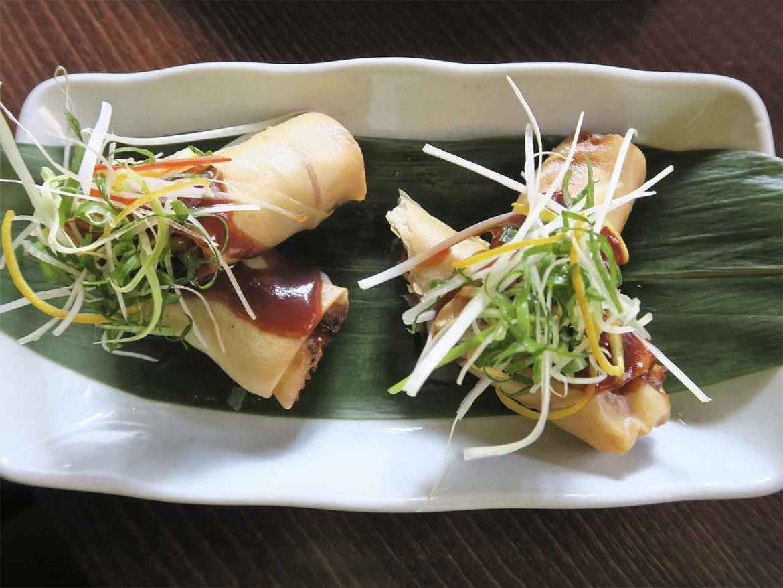 Rollitos de pato con verduras Restaurante Shanghai Mama