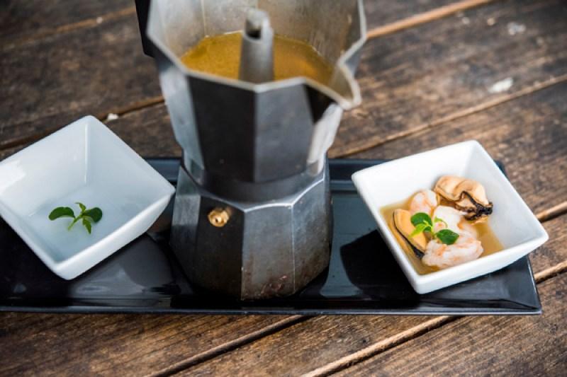Cafetera desestructuradora Oceanika Gastrofestival 2018