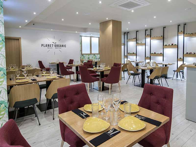 Planet Organic restaurante ecologico Comedor