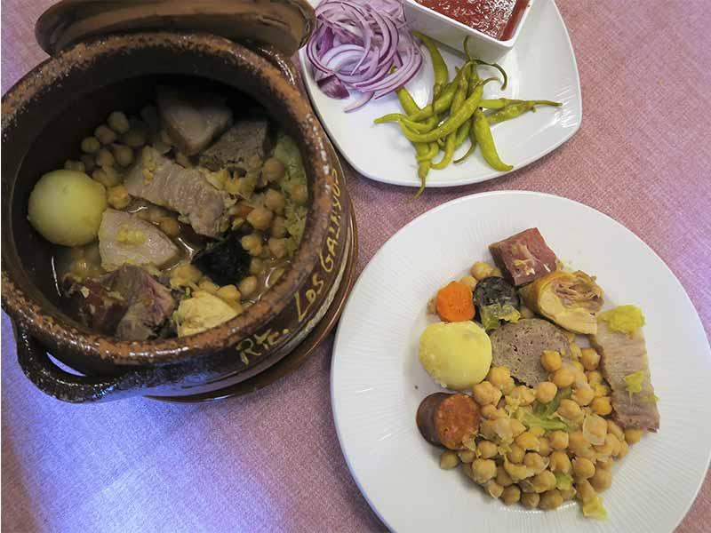 Restaurante Los Galayos Plaza Mayor Cocido segundo vuelco