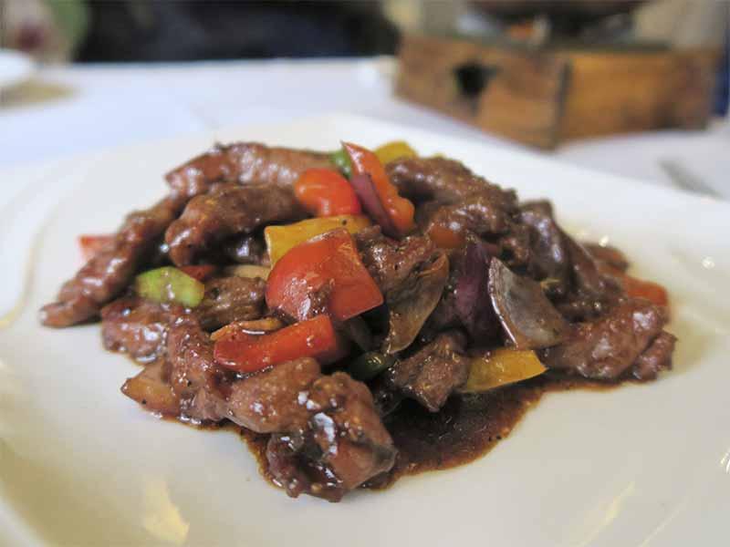 Casa Lafu restaurante chino Solomillo de ternera a la pimienta
