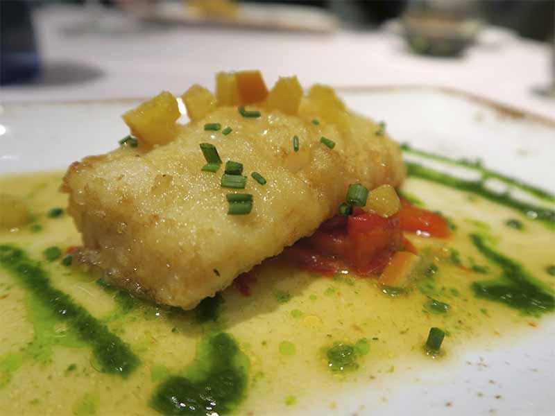 Restaurante Sandó Gran Vía Madrid Bacalo en tempura